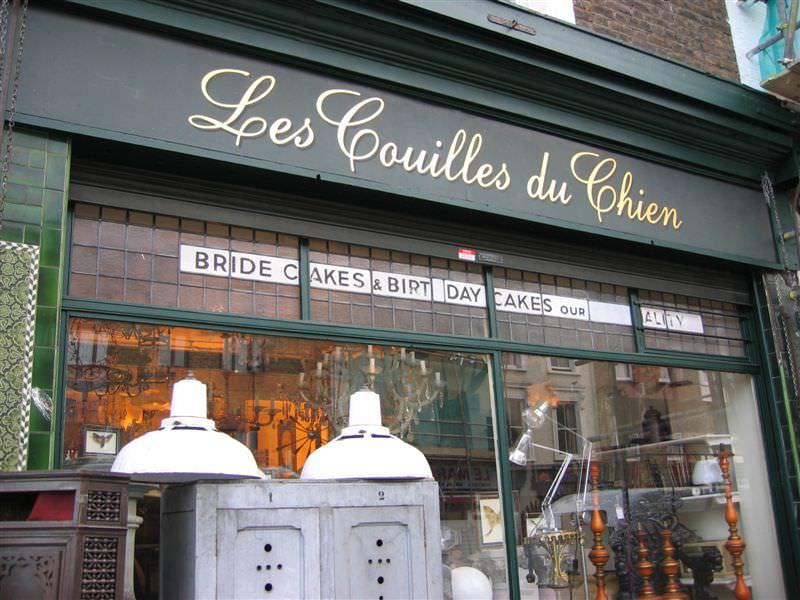 photo boutique les couilles du chien à Londres