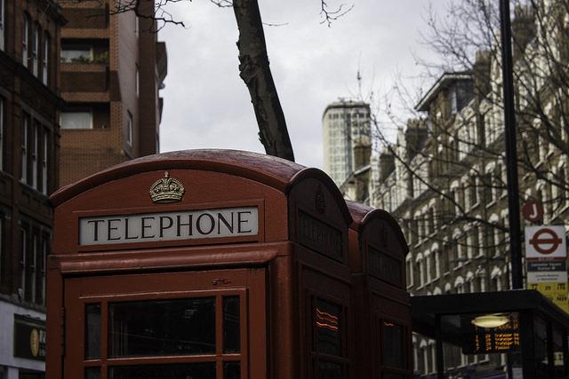 photo cabine téléphonique Londres