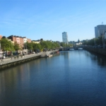 Vue sur la Liffey à Dublin