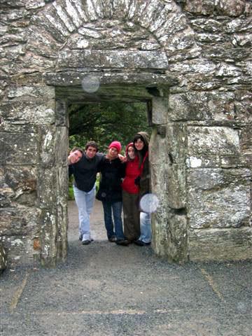 Glendalough, visite entre amis