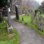 photo du cimetière de Glendalough en Irlande