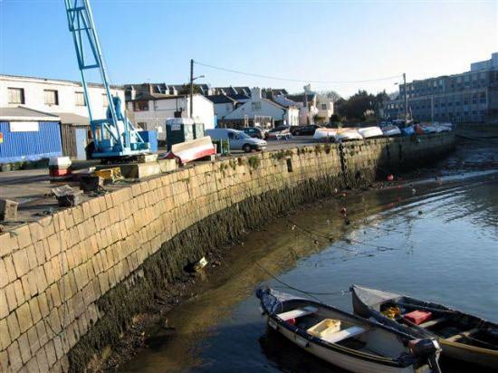Jolie vue du port de Dalkey, Irlande
