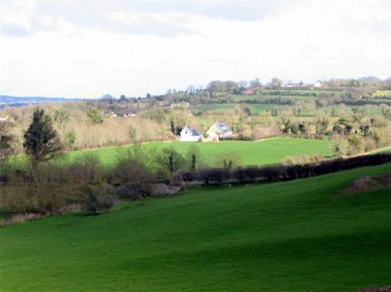 Vue sur la campagne de Newgrange