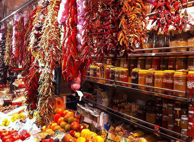 photo  du marché de Barcelone, la Boqueria