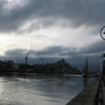 Vue du port de Dublin