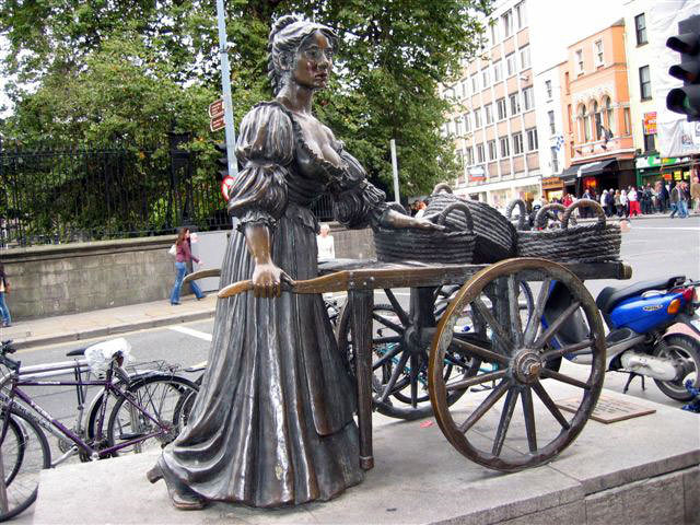 photo de la statue de Molly Malone à Dublin