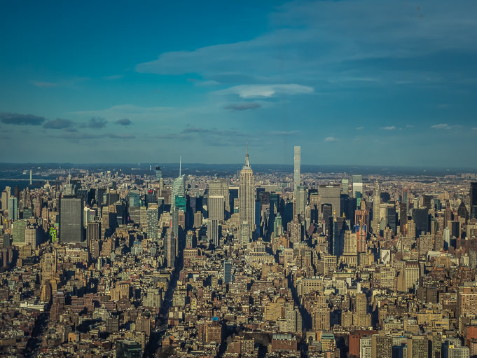 New York, vue sur l'Empire State Building