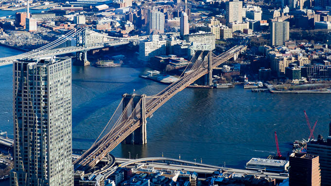 Le Brooklyn Bridge vu du ciel... Ou presque !