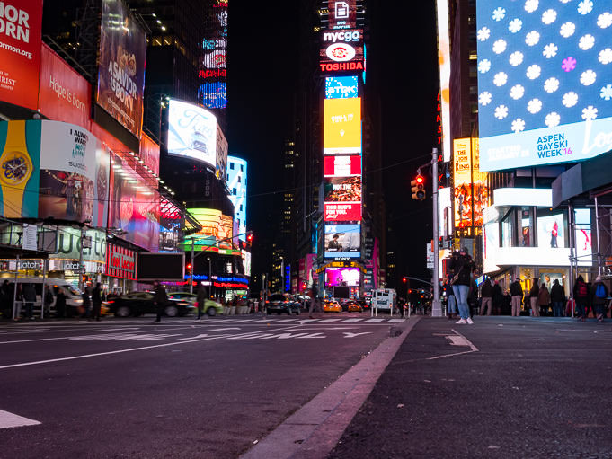 Photo de Time Square la nuit