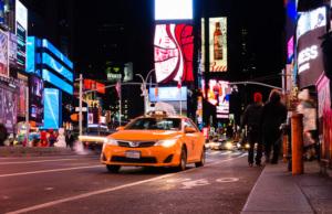 Premiers essais photo sur Time Square à New York