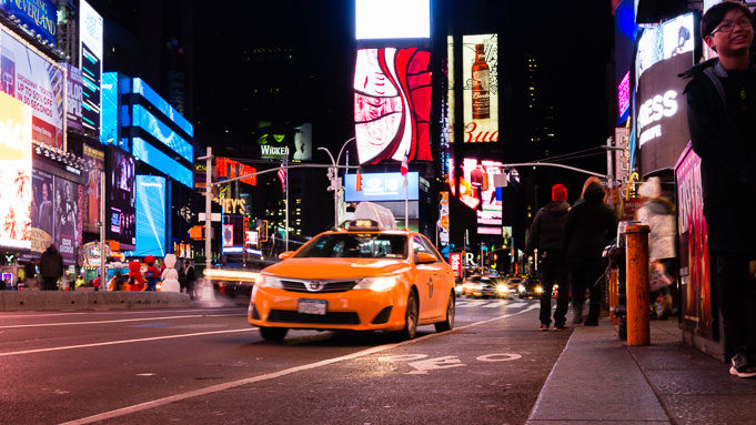 photo de Taxi sur Time Square à New York