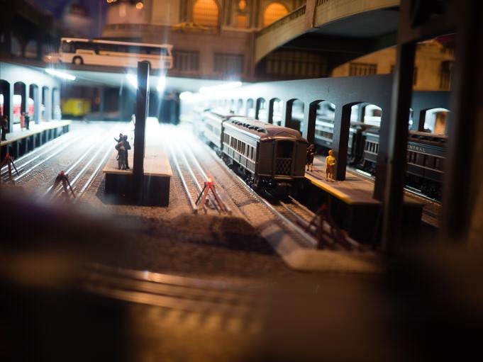 Trains électriques à Grand Central...