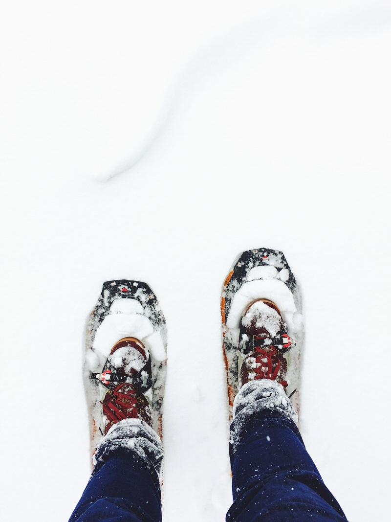 Comment s'équiper pour votre première randonnée en raquettes à neige...