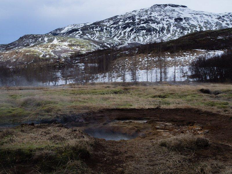 Des source d'eau chaude en Islande